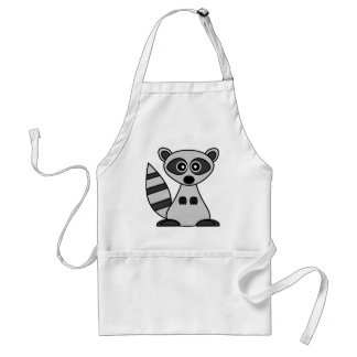 Cute Cartoon Raccoon (Today's Best Award) Adult Apron