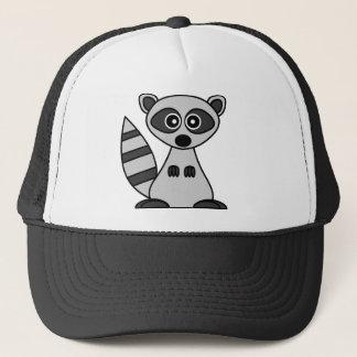 Cute Cartoon Raccoon Trucker Hat