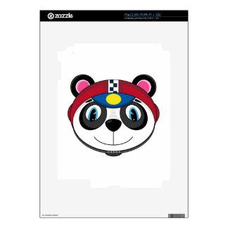 Cute Cartoon Racing Car Panda iPad 2 Skins