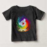 Cute Cartoon Rainbow White Lion Baby T-Shirt