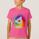 Cute Cartoon Rainbow White Lion Children T-Shirt