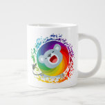 Cute Cartoon Rainbow White Lion Giant Coffee Mug