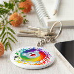 Cute Cartoon Rainbow White Lion Keychain