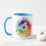 Cute Cartoon Rainbow White Lion Mug