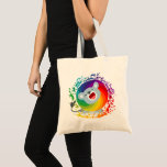 Cute Cartoon Rainbow White Lion Tote Bag