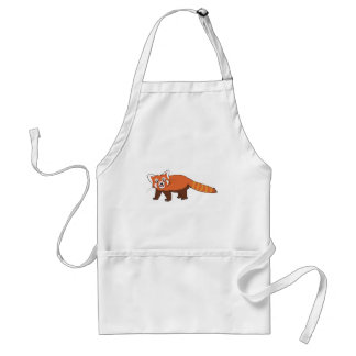 Cute Cartoon Red Panda Sticking Out Tongue Adult Apron