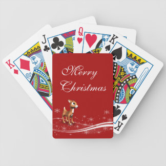 Cute Cartoon Reindeer Christmas Bicycle Playing Cards