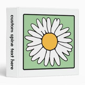 Cute Cartoon Retro Daisy Spring Garden Flower Binders