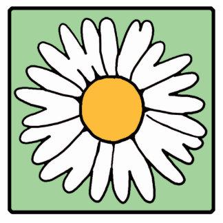 Cute Cartoon Retro Daisy Spring Garden Flower Acrylic Cut Out