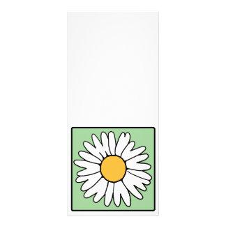 Cute Cartoon Retro Daisy Spring Garden Flower Rack Card