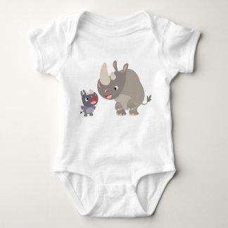Cute Cartoon Rhino Baby & Big Rhino Baby T-Shirt