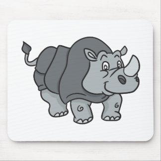 Cute Cartoon Rhinoceros Mouse Pad