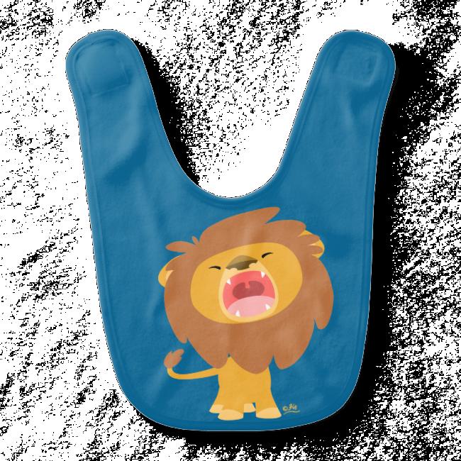 Cute Cartoon Roaring Lion Baby Bib