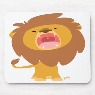 Cute Cartoon  Roaring Lion mousepad