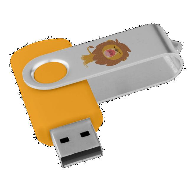 Cute Cartoon Roaring Lion USB Drive Swivel Swivel USB 2.0 Flash Drive