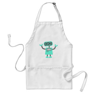 Cute Cartoon Robot Adult Apron