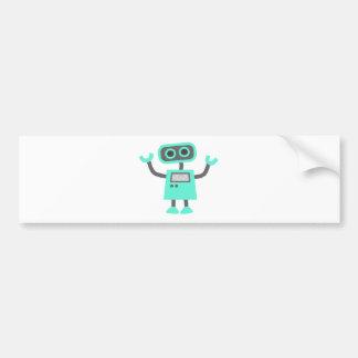 Cute Cartoon Robot Car Bumper Sticker