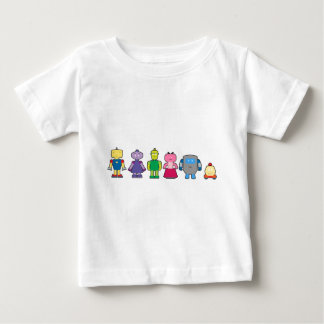 Cute Cartoon Robots Baby T-Shirt