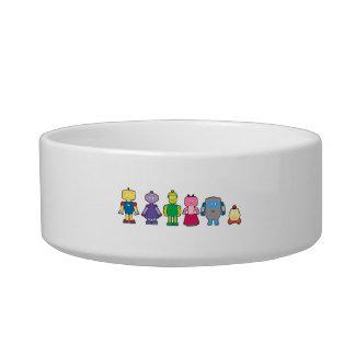 Cute Cartoon Robots Bowl