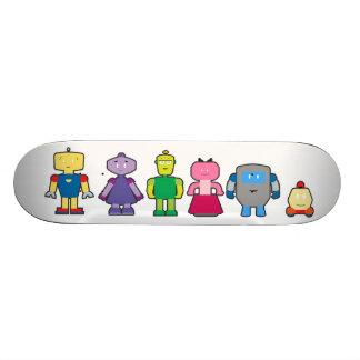 Cute Cartoon Robots Custom Skate Board