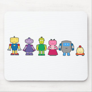 Cute Cartoon Robots Mouse Pad