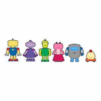 Cute Cartoon Robots Photo Cutouts