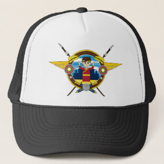 Cute Cartoon Roman Emperor Trucker Hat