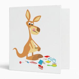 Cute Cartoon Rummaging Kangaroo Binder