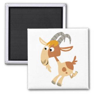 Cute Cartoon Running Goat Magnet