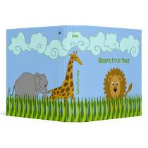 Cute Cartoon Safari Animals 1.5 Inch Binder