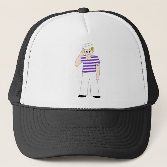 Cute Cartoon Sailor Trucker Hat