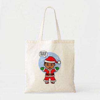 Cute Cartoon Santa Toddler Bringing Holiday Cheers Tote Bag