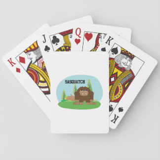Cute Cartoon Sasquatch Playing Cards
