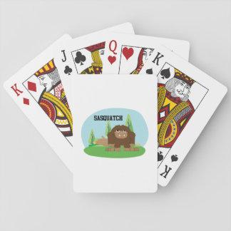 Cute Cartoon Sasquatch Playing Cards
