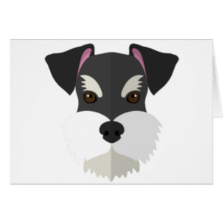 Cute Cartoon Schnauzer! Card