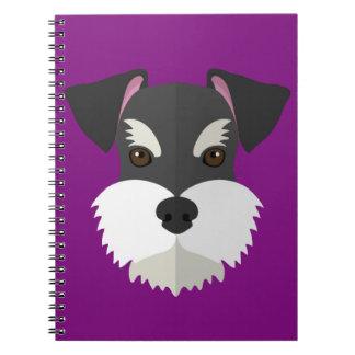 Cute Cartoon Schnauzer! Notebook