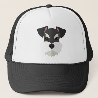 Cute Cartoon Schnauzer! Trucker Hat