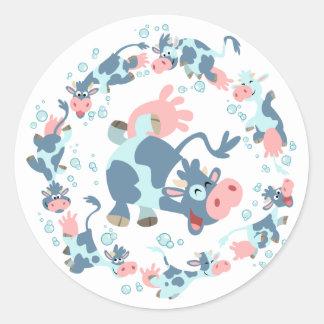 Cute Cartoon Sea Cows sticker