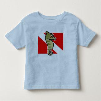 Cute Cartoon Seahorse Dive Flag Shirt