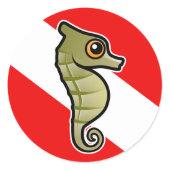 Cute Scubadorable Dwarf Seahorse Dive Flag