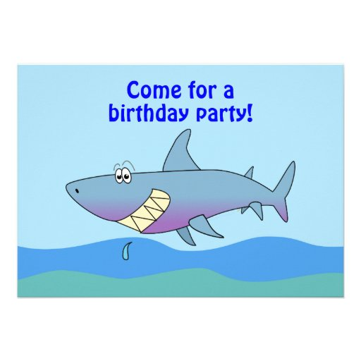 Shark Party Invitations is adorable invitations sample