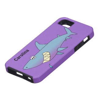 Cute Cartoon Shark Custom Name iphone 5 Cover