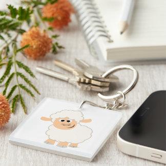 Cute Cartoon Sheep Acrylic Keychain