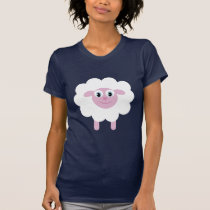 Cute Cartoon Sheep Animal Charity Customizable T-Shirt
