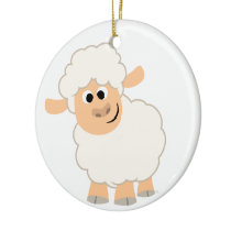 Cute Cartoon Sheep Ceramic Ornament