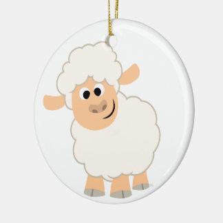 Cute Cartoon Sheep Ceramic Ornament