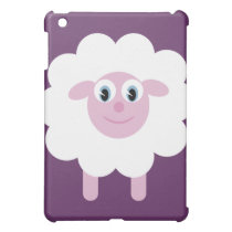 Cute Cartoon Sheep Customizable Purple iPad Mini Case