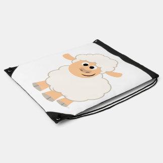 Cute Cartoon Sheep Drawstring Backpack