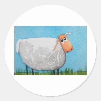 Cute cartoon sheep Gordon Bruce art Classic Round Sticker