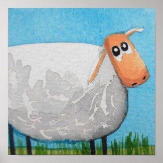 Cute cartoon sheep Gordon Bruce art Poster